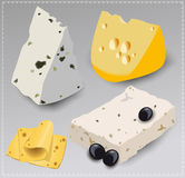Set of different kinds of cheese. Stock Photography