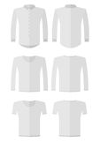 Set of different kinds protective white work wear Royalty Free Stock Photos