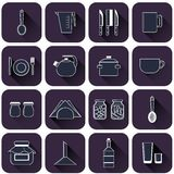 Set of different kitchenware Royalty Free Stock Photo