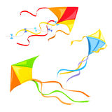 Set of different kites isolated Royalty Free Stock Image