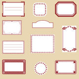 A set of different labels Royalty Free Stock Photography