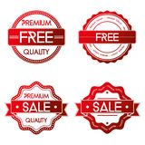 Set Of Different Labels Isolated On White Background Stock Photos