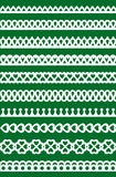 Lace patterns 3. Set of different lace patterns. EPS8 Royalty Free Stock Images