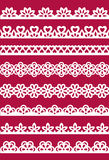 Lace patterns 2. Set of different lace patterns. EPS8 Stock Image