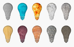 Set of different lamps Royalty Free Stock Photo