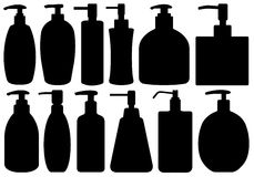 Set Of Different Liquid Soaps Stock Photos