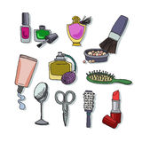 Set of different makeup items Stock Image