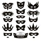 Set of different masks Stock Images