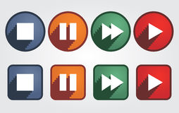 Set of different media icons. Vector Royalty Free Stock Photography
