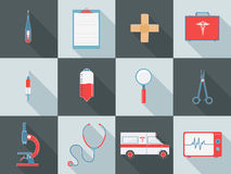 Set of different medical elements. Stock Photo
