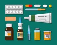 Medical set in flat design style vector illustration