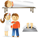Set of of different medical situations Stock Photo