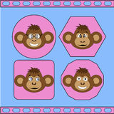 The set of different monkeys EPS 10 vector Stock Photo