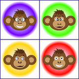 The set of different monkeys EPS 10 vector. The set of different monkeys EPS 10 Royalty Free Stock Photos
