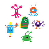 Set of different monsters on a white background Stock Image
