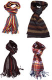 Set of different multicolored scarves Royalty Free Stock Images