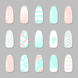 Set of different nail pictires Stock Images