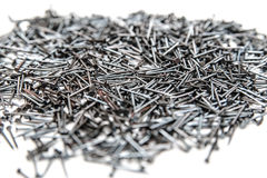 Set of different nails, screws, nuts, bolts Stock Photos