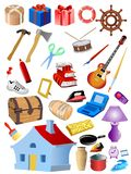 Set of different objects Royalty Free Stock Photos