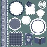 Set of different objects for scrapbook Royalty Free Stock Photos