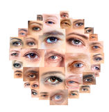 Set of Different Open Eyes Stock Photos