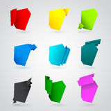 Set of different origami paper banners Royalty Free Stock Photography