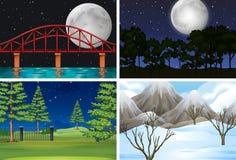 Set of different outdoor scenes. Illustration royalty free illustration