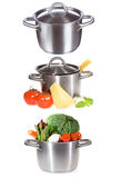Set with different pans Royalty Free Stock Image