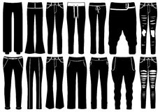 Set Of Different Pants Royalty Free Stock Photography