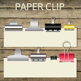 Set of different paper clips for your design, Royalty Free Stock Image