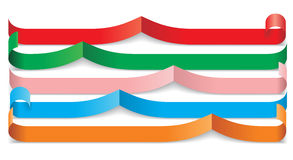 Set of different paper ribbons. Vector. Illustration Stock Illustration
