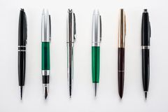 Set of different pens Royalty Free Stock Image