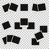 Set of different photo frames with shadows Stock Photo