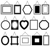 Set of different picture frames Stock Photo