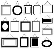 Set of different picture frames Stock Images