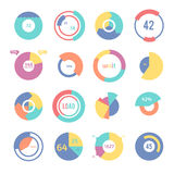 Set of different pie charts. Modern infographics for presentations Royalty Free Stock Image