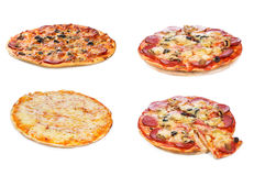 Set with different pizza Royalty Free Stock Images