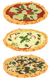 A set of different pizzas Royalty Free Stock Photography