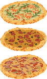 A set of different pizzas Royalty Free Stock Photo