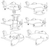 A Set of Different Planes Contour. Vector. Royalty Free Stock Photo