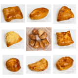 Set of a different portion bakery products Stock Photos