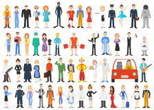 Set of different professions. People isolated on white background. Vector illustration royalty free illustration