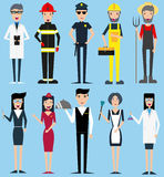 Set of different professions. Royalty Free Stock Image