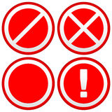 Set of Different Prohibition / Warning Signs, road signs. Europe Stock Photos