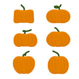 Set different pumpkins. Vegetables for Halloween. Stock Photos