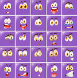 Set of different purple expressions Stock Images