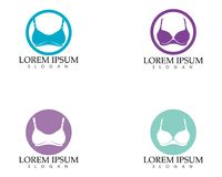 Set of different push up bras isolated over. White background Royalty Free Stock Images