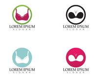 Set of different push up bras isolated over. White background Stock Images