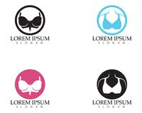 Set of different push up bras isolated over. White background Stock Photos