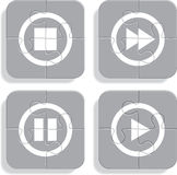 Set of different puzzle media icons. Vector Stock Images